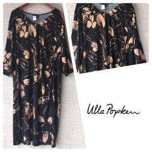 Ulla Popken Shaped Fit Abstract Print Dress